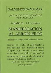 Cartell convocant la manifestació del 15 de maig de 1999