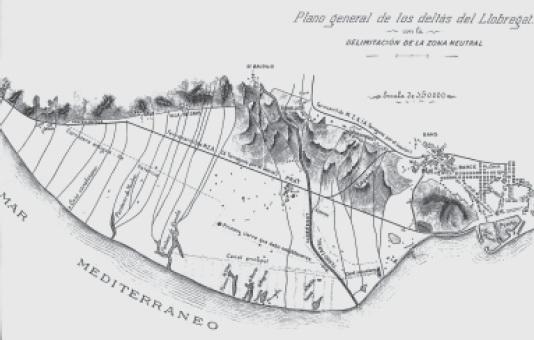 Delta Del Llobregat Mapa Plànol Del Delta Del Llobregat